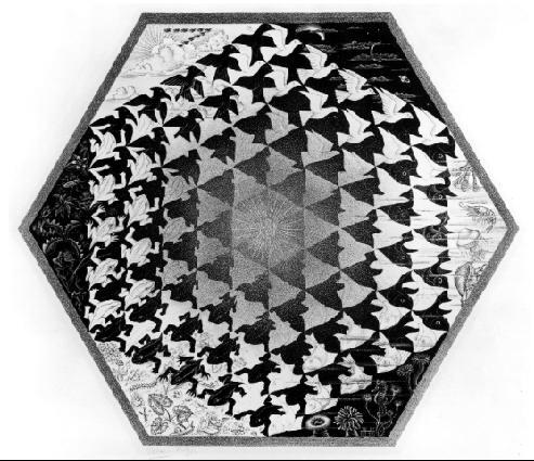 Шестигранник. 1942, литография