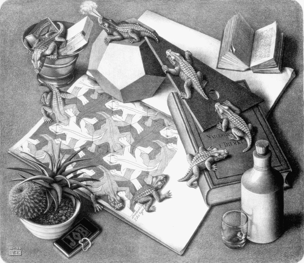 Рептилии. 1943, литография