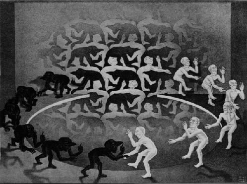 Столкновение. 1944, литография