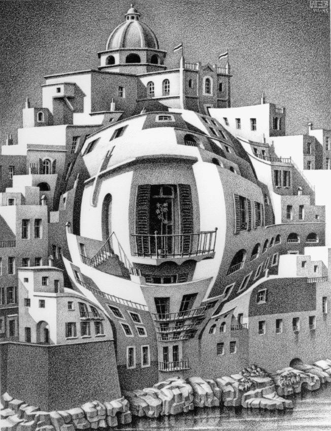 Балкон. 1945, литография