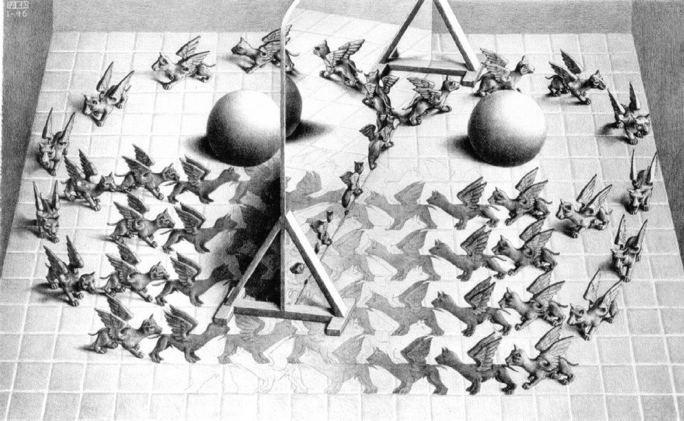 Магическое зеркало. 1946, литография