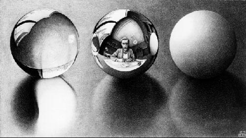 Три сферы II. 1946, литография