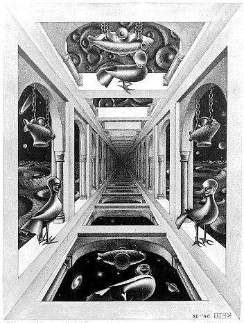 Галлерея. 1946, меццо-тинто