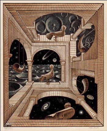 Другой мир. 1947, резьба по дереву, гравюра на дереве