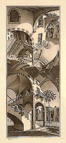 Вверх и вниз. 1947, литография