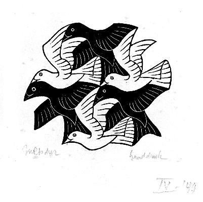 Мозаика с птицами. 1949, резьба по дереву