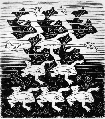 Рыба и лягушки. 1949, резьба по дереву