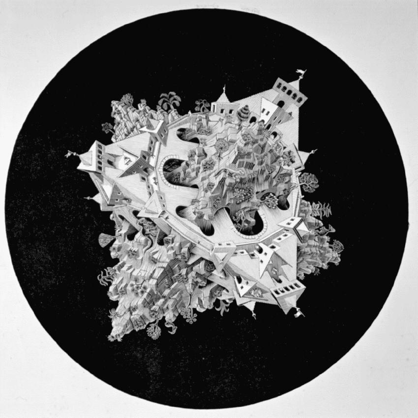 Двойной астероид. 1949, резьба по дереву