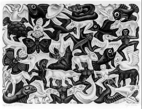 Орнамент I. 1951, меццо-тинто