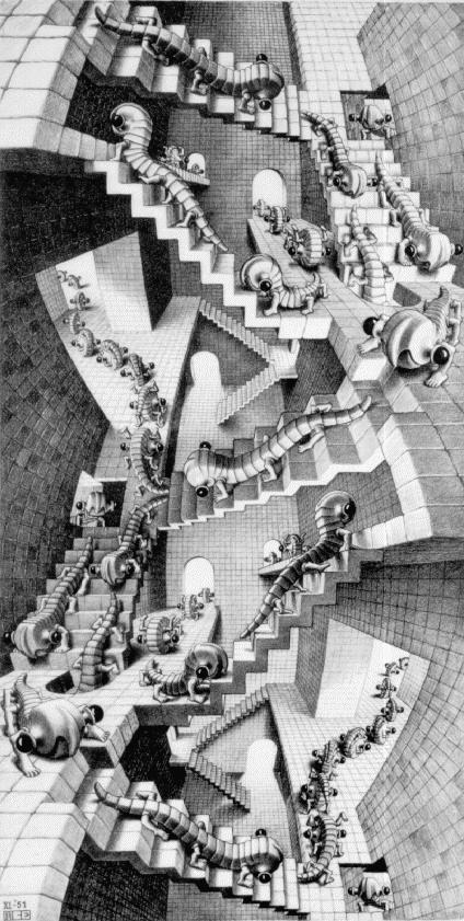 Дом ступенек. 1951, литография