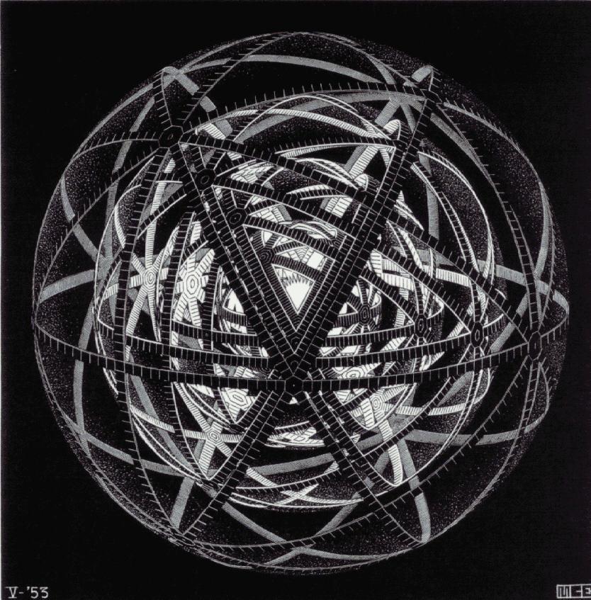 Концентрическая оболочка. 1953, резьба по дереву
