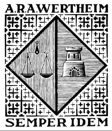 Экслибрис А.Р.Р. Вертейм. 1954, гравюра на дереве