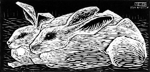 Кролики. 1920, гравюра на дереве