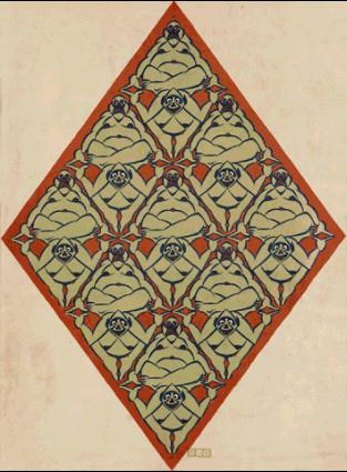 Заливка с фигурой человека. 1920 или 1921 Литография в синем, зеленом и красном цветах