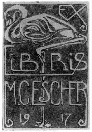 Эсклибрис. 1917 Гравюра на зеленом линолеуме