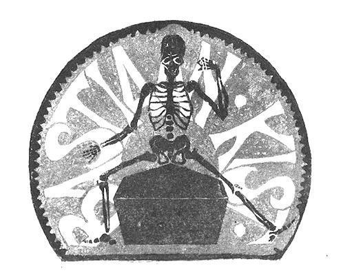 Экслибрис Бастиан Кист. 1916, гравюра на линолеуме в красном и черном