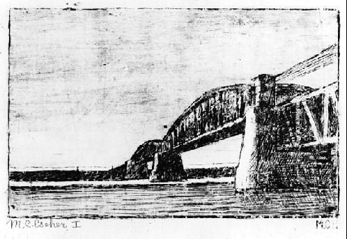 Железнодорожный мост, Oosterbeek. 1917 травление