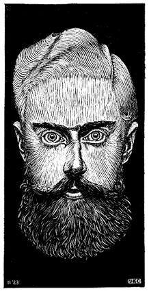 Автопортрет. 1922, гравюра на дереве