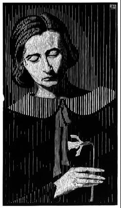 Портрет Джетты. 1925, гравюра на дереве