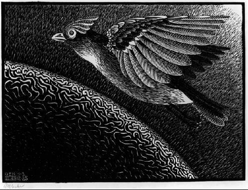 Первый день мироздания. 1925, гравюра на дереве