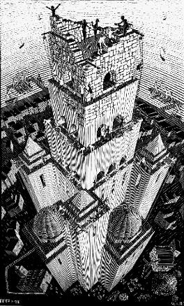 Башня Бабеля. 1928, гравюра на дереве