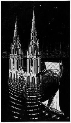 Кафедральный собор. 1929, гравюра на дереве