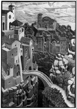 Мост. 1930, литография