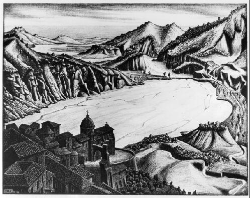 Фьюмара, Калабрия. 1930, литография