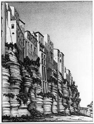 Тропеа, Калабрия. 1931, литография