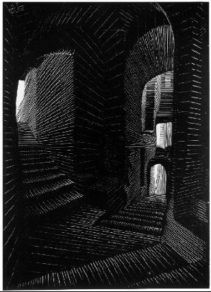 Крытая Аллея в Атрани. 1931, резьба по дереву