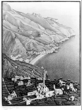 Равелло и побережье Амальфи. 1931, литография