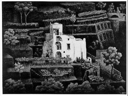 Дом, Равелло. 1931, литография