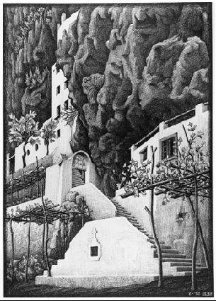 Сан Косимо, Равелло. 1932, литография