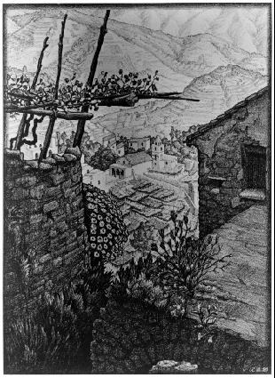 Турелло, Южная Италия. 1932, литография