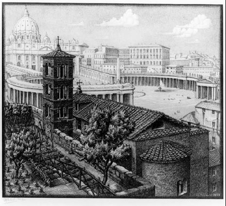 Сан Мишель де Фрисоне, Рим. 1932, литография