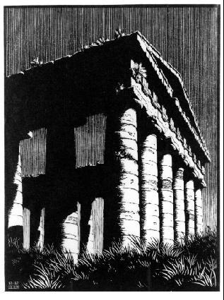 Храм Сегесты, Сицилия. 1932, резьба по дереву