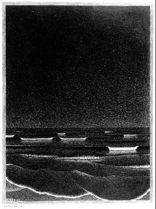 Фосфоресцирующееся море. 1933, литография