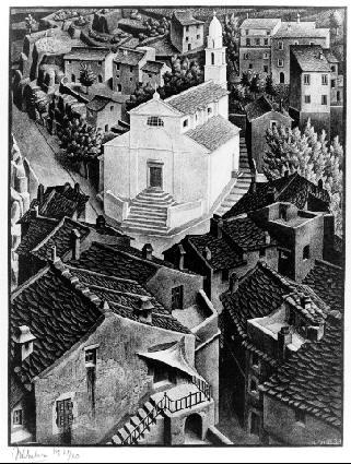 Нонза, Корсика. 1934, литография