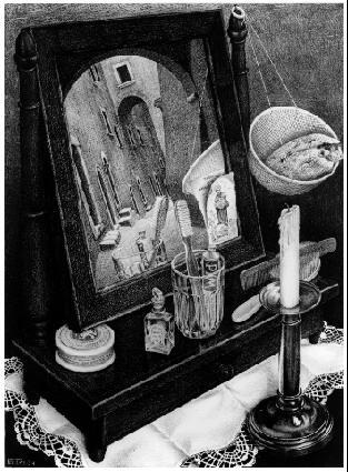 Все еще живу с зеркалом. 1934, литография