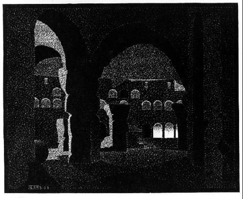Ночной Рим: Колизей. 1934, гравюра на дереве