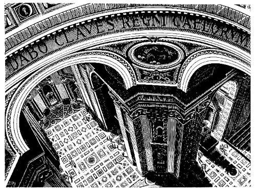 Внутри Св. Петра. 1935, резьба по дереву
