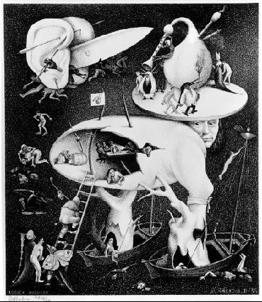 Черт, копия после Хиронимуса Воша. 1935, литография