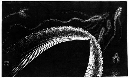 Дельфины. 1923, гравюра на дереве
