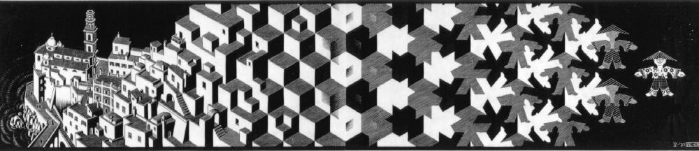 Метаморфозы I. 1937, гравюра на дереве