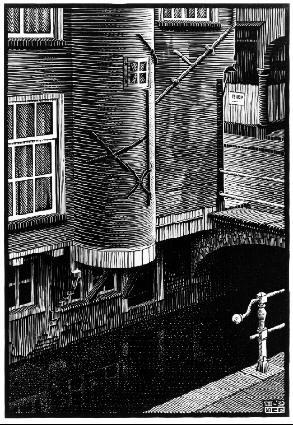Вальдерсграчт, Делфт. 1939, гравюра на дереве