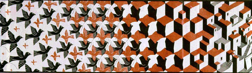 Метаморфозы II. 1940, гравюра на дереве