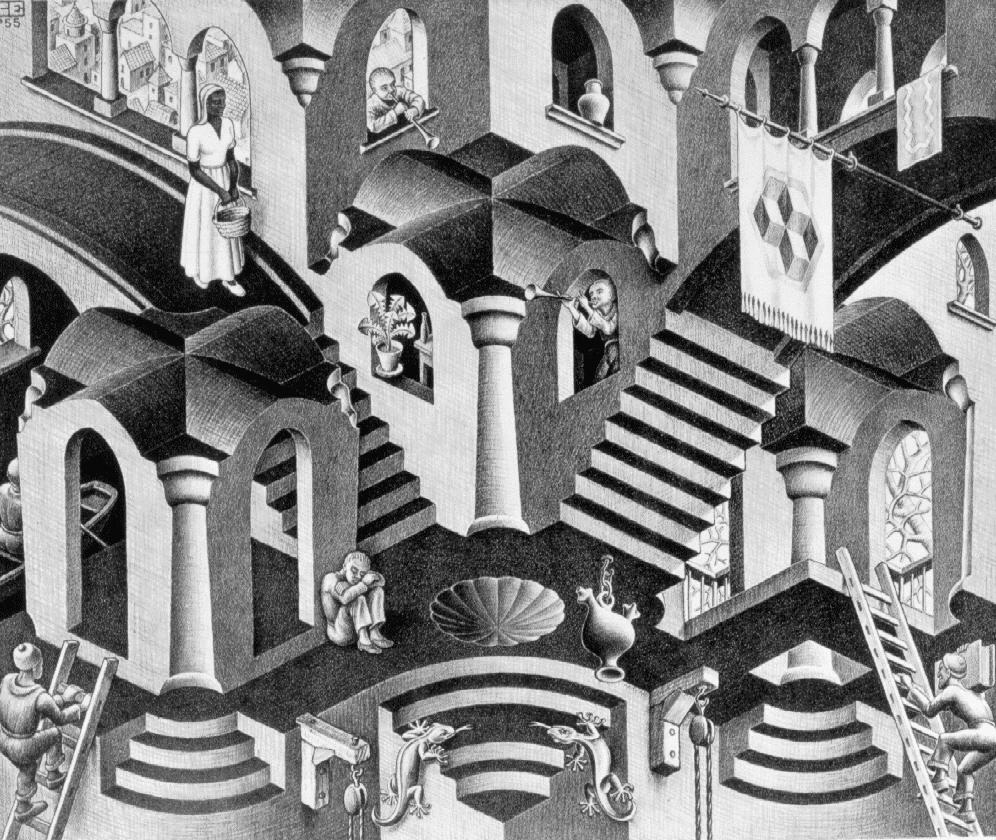 Выпуклые и вогнутые. 1955, литография