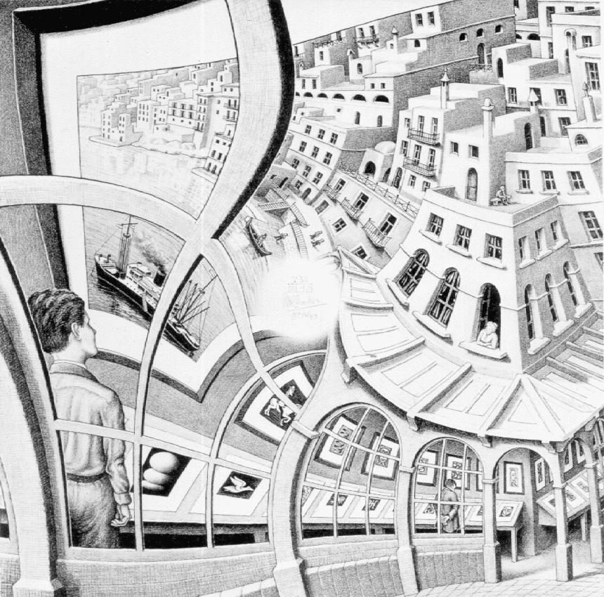 Галерея. 1956, литография