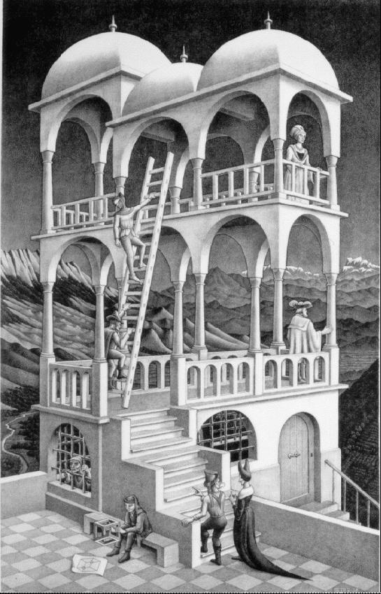 Бельведер. 1958, литография