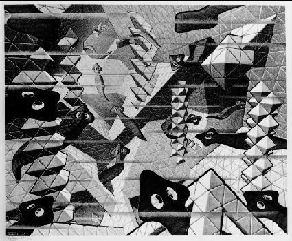 Плоские черви. 1959, литография